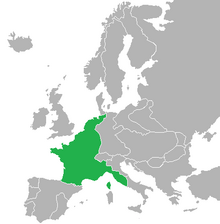 Map of the French Empire