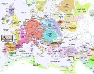 Europe map 1200