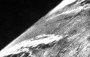 First photo from space