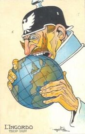 Guerre 14-18-Humour-L'ingordo, trop dur-1915
