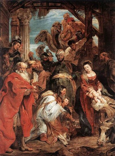 442px-Peter Paul Rubens - The Adoration of the Magi - WGA20244