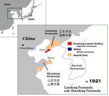 Kwantung territory China 1921