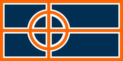 Circle cross flag