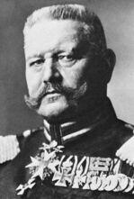 Paul von Hindenburg in Uniform