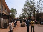 Kati market street (and Amadu)