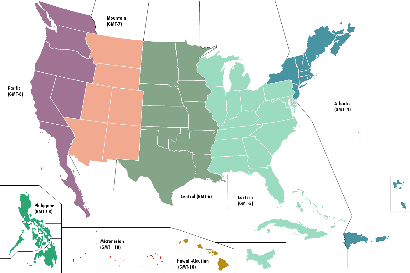 Image United States Map Time Zones Alternitypng - Map us time zones states