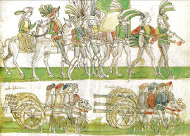 French troops and artillery entering Naples 1495