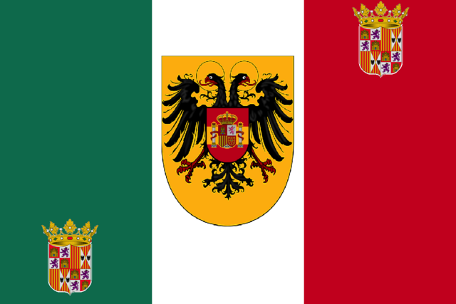 File:Flag of Hispanian italy.png