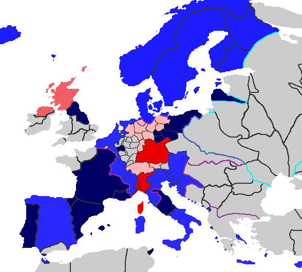 Map of the Catholic League (PMII)