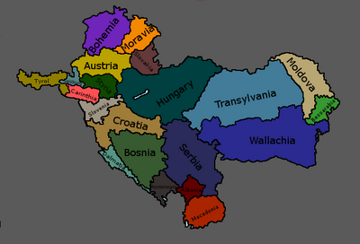 Map of Balkan States