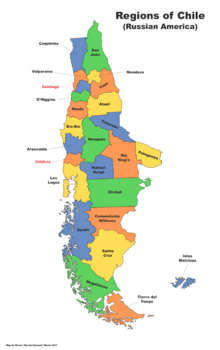 Map of Chile (Russian America)
