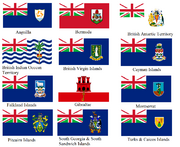 British overseas territories flags with alternate union flag (no scotland)