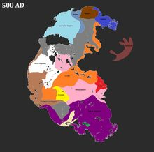 Pangea 500 AD