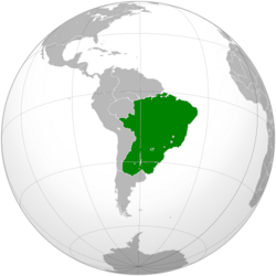 Map of the Empire of Brazil (Aztec Empire)