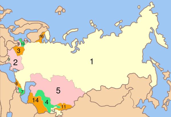 CV Soviet Union map