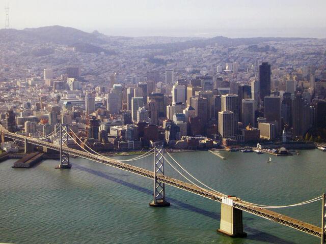 File:SF and Bay Bridge.JPG