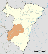 Map of Alsace highlighting Molsheim