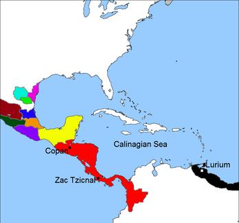 Crispian Landing in the Maya territory