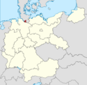 Locator map Hamburg in Germany (IM)