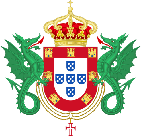 File:Coat of Arms of the Kingdom of Portugal (1640-1910).png