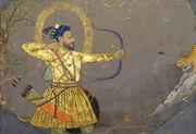 Sultan Ali Adil II Shah of Bijapur, hunting tiger, India, Deccan, Bijapur, ca 1660