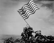 1776- UCA Raising Flag over Iwo Jima