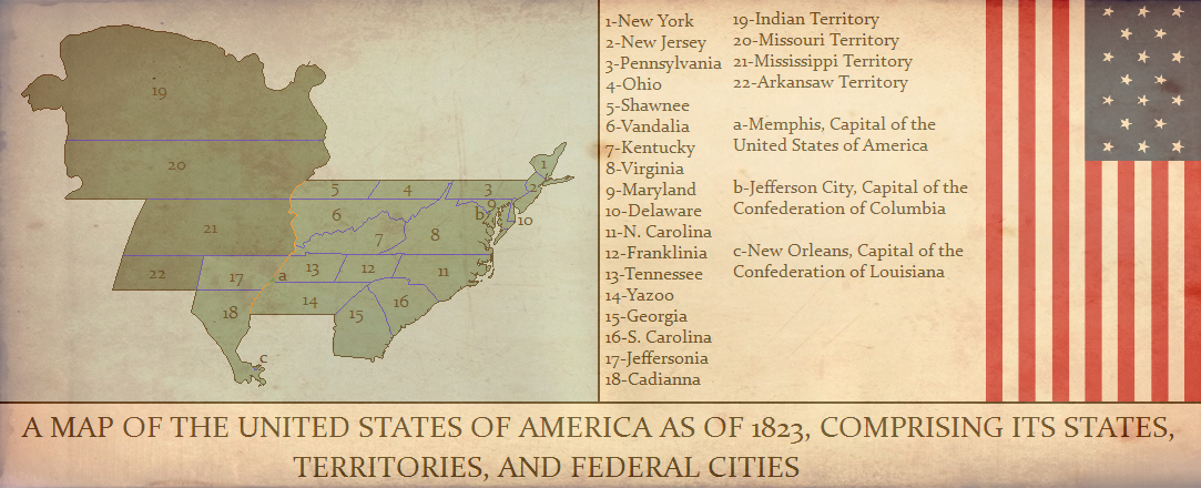 United States Of America Looser Union Alternative History - Alternate history us map