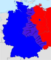 German revolution of 1970's map