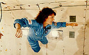 200px-Christa McAuliffe Experiences Weightlessness During KC-135 Flight - GPN-2002-000149-1-