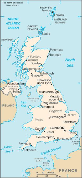 United Kingdom-CIA WFB Map