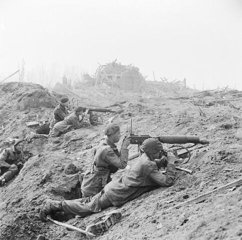 File:-British commandos in the shattered outskirts of Wesel.jpg