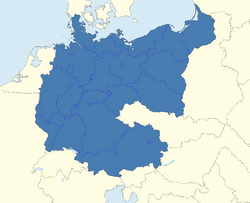 CV Map of Germany 1945-1991