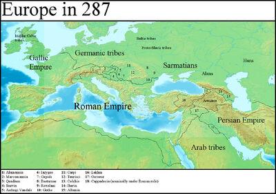 Europe in 287 (Gaul Rising)