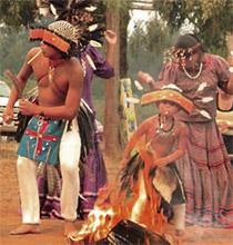 Gusku Society fire ritual