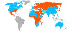 World War II Map (Second Mexican Empire win)