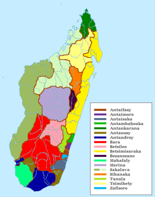 Ethnic map of Madagascar