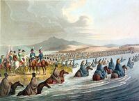 Crossing the Neman in Russia 1812 by Clark