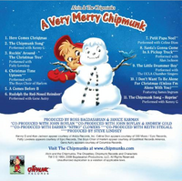 A Very Merry Chipmunk Back Cover
