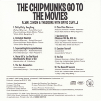 The Chipmunks Go To The Movies Back Cover