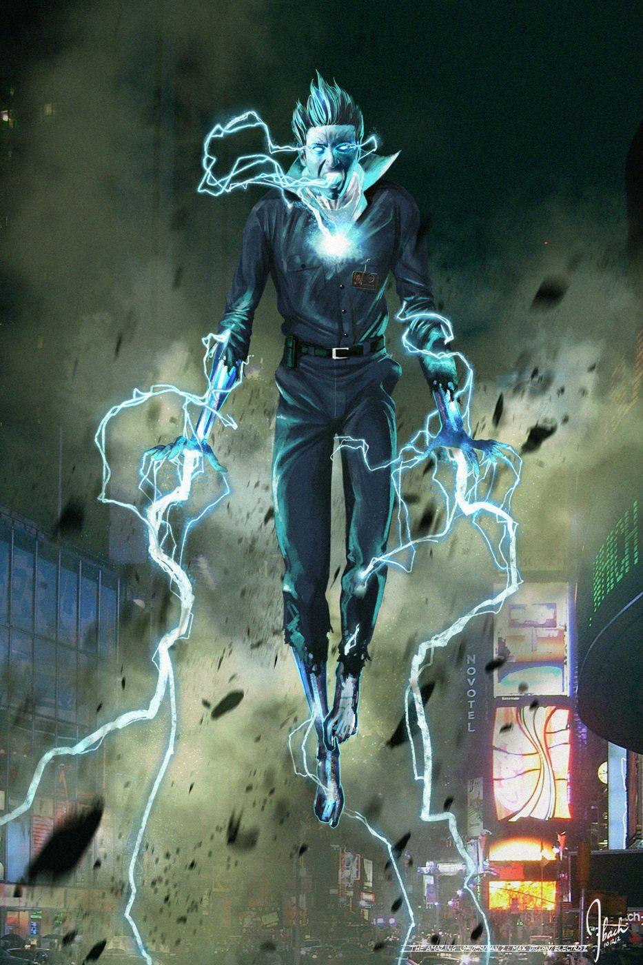 C4ge5dF Amazing Spider Man 2 Electro Concept Art