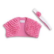 PinkShrugHeadband girls
