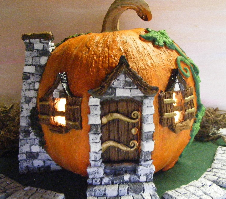 домик из декоративной тыквы своими руками фото