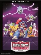 Angry Birds Transformers Comic Con poster