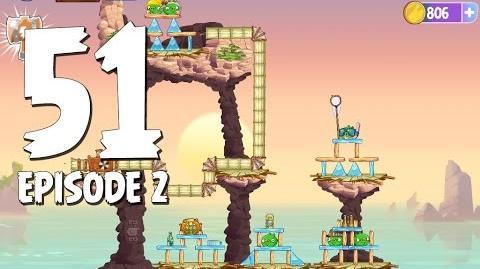 Angry Birds Stella Level 51 Episode 2 Beach Day Walkthrough