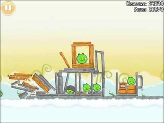 Official Angry Birds Walkthrough Danger Above 8-4
