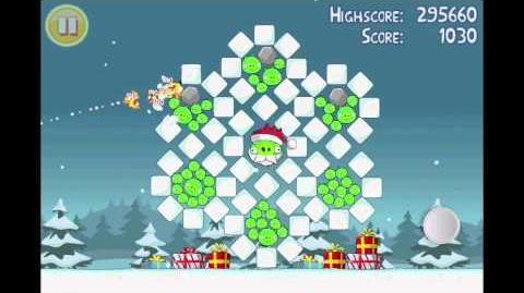 Angry Birds Seasons Season's Greedings Golden Egg 1 Walkthrough