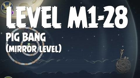 Angry Birds Space Pig Bang Level M1-28 Mirror World Walkthrough 3 Star