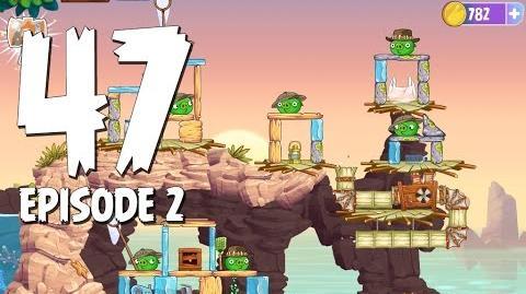 Angry Birds Stella Level 47 Episode 2 Beach Day Walkthrough