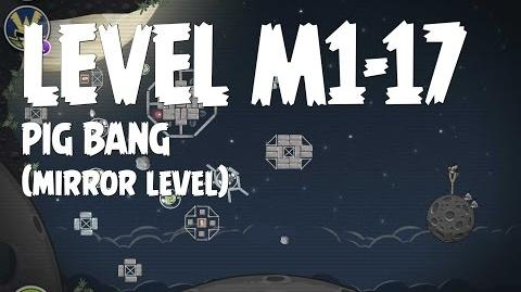 Angry Birds Space Pig Bang Level M1-17 Mirror World Walkthrough 3 Star