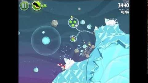 Angry Birds Space 2-2 Cold Cuts Level 2-2 Walkthrough 3-star
